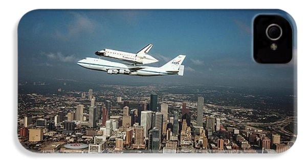 Space Shuttle Endeavour Piggyback Flight IPhone 4 Case by Nasa/sheri Locke