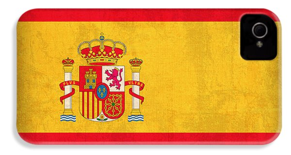 Spain Flag Vintage Distressed Finish IPhone 4 Case