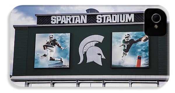 Spartan Stadium Scoreboard  IPhone 4 Case by John McGraw