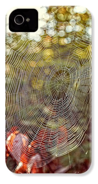 Spider Web IPhone 4 Case by Edward Fielding