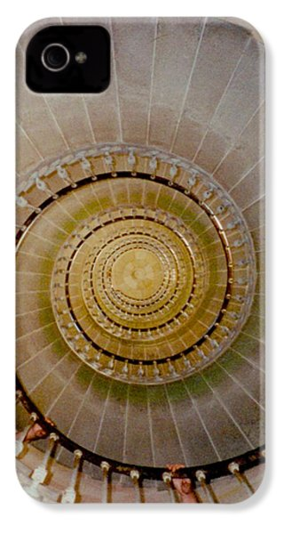 Spirale Du Phare Des Baleines Version Carree IPhone 4 Case by Marc Philippe Joly
