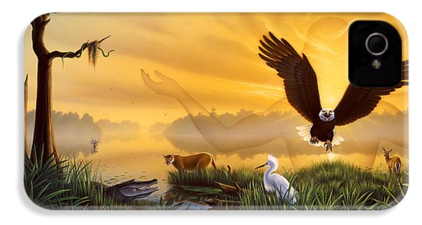 Spirit Of The Everglades IPhone 4 Case by Jerry LoFaro