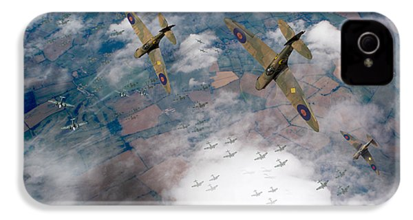 Raf Spitfires Swoop On Heinkels In Battle Of Britain IPhone 4 Case by Gary Eason
