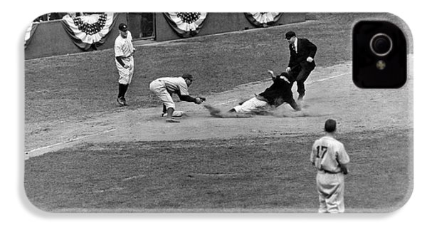 Spud Chandler Is Out At Third In The Second Game Of The 1941 Wor IPhone 4 Case by Underwood Archives