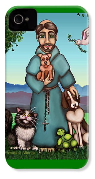 St. Francis Libertys Blessing IPhone 4 Case by Victoria De Almeida