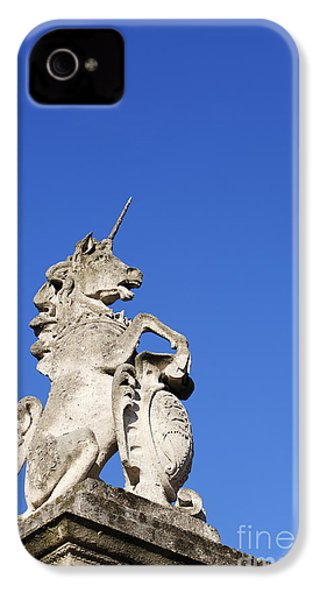 Statue Of A Unicorn On The Walls Of Buckingham Palace In London England IPhone 4 / 4s Case by Robert Preston
