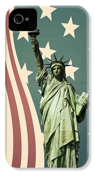 Statue Of Liberty IPhone 4 Case by Juli Scalzi