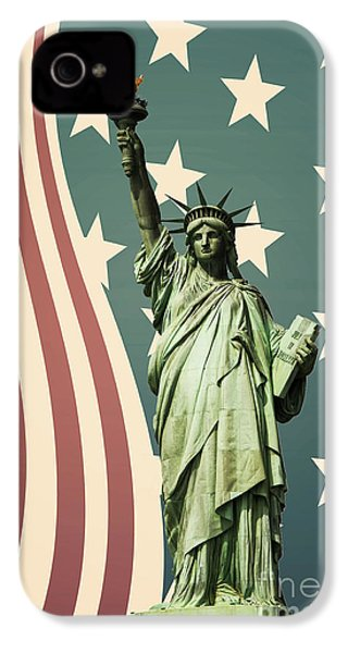 Statue Of Liberty IPhone 4 / 4s Case by Juli Scalzi