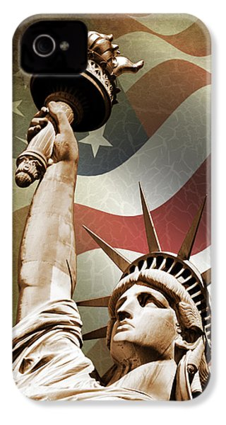 Statue Of Liberty IPhone 4 Case by Mark Rogan