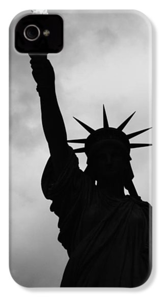 Statue Of Liberty Silhouette IPhone 4 Case by Dave Beckerman