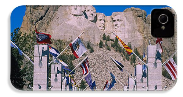 Statues On A Mountain, Mt Rushmore, Mt IPhone 4 Case by Panoramic Images