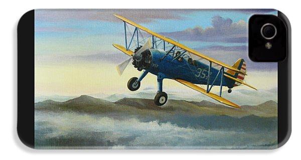 Stearman Biplane IPhone 4 Case by Stuart Swartz