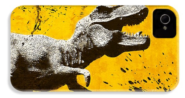 Stencil Trex IPhone 4 Case by Pixel Chimp
