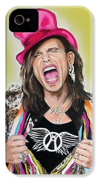 Steven Tyler 2 IPhone 4 Case by Melanie D