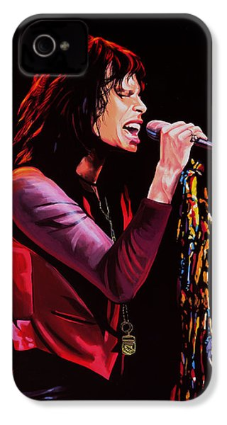 Steven Tyler IPhone 4 Case by Paul Meijering