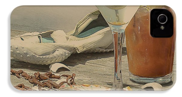 Still Life - Beach With Curves IPhone 4 Case by Jeff Burgess