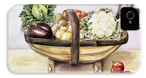 Still Life With A Trug Of Vegetables IPhone 4 / 4s Case by Alison Cooper