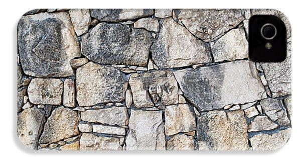 Stone Wall Texture IPhone 4 Case by Antony McAulay