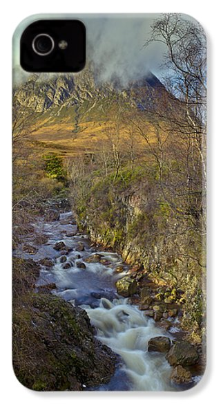Stream Below Buachaille Etive Mor IPhone 4 Case by Gary Eason