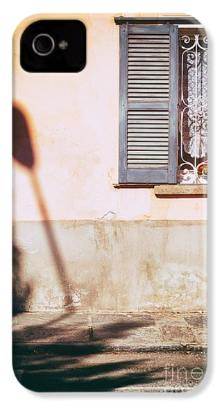 IPhone 4 Case featuring the photograph Street Lamp Shadow And Window by Silvia Ganora