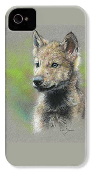 Study - Baby Wolf IPhone 4 Case