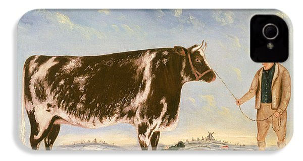 Study Of A Shorthorn IPhone 4 Case by William Joseph Shayer