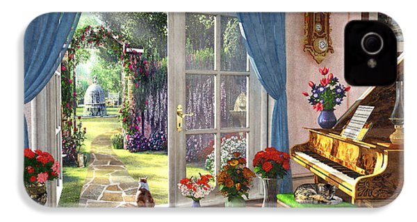 IPhone 4 Case featuring the painting Summer Garden View by Dominic Davison