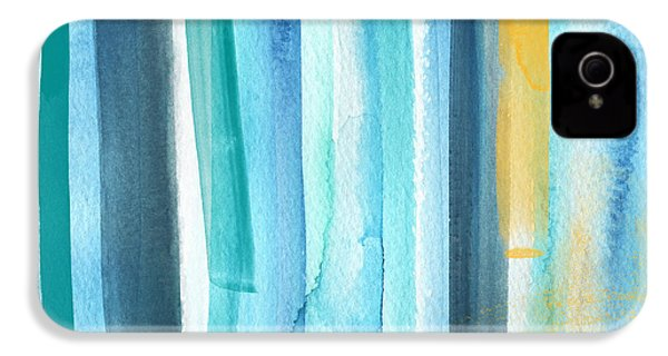 Summer Surf- Abstract Painting IPhone 4 Case by Linda Woods
