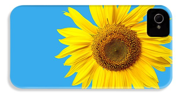 Sunflower Blue Sky IPhone 4 Case by Edward Fielding