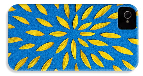 Sunflower Petals Pattern IPhone 4 Case by Tim Gainey