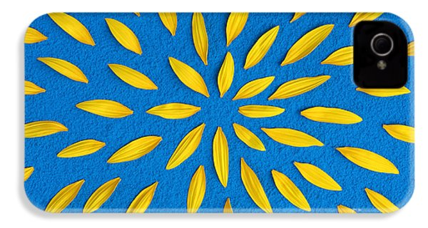 Sunflower Petals Pattern IPhone 4 Case by Tim Gainey