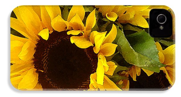 Sunflowers IPhone 4 Case by Amy Vangsgard