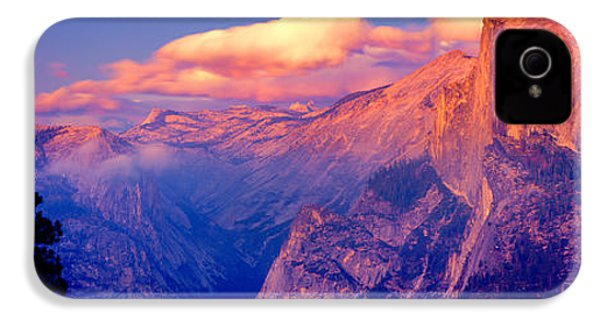 Sunlight Falling On A Mountain, Half IPhone 4 / 4s Case by Panoramic Images
