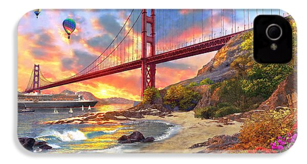 Sunset At Golden Gate IPhone 4 Case by Dominic Davison