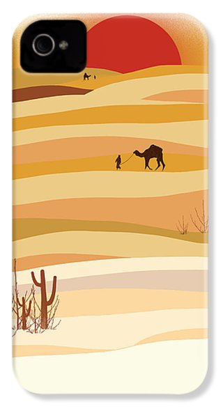 Sunset In The Desert IPhone 4 Case by Neelanjana  Bandyopadhyay