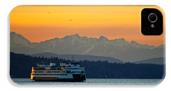 Sunset Over Olympic Mountains IPhone 4 Case by Dan Mihai