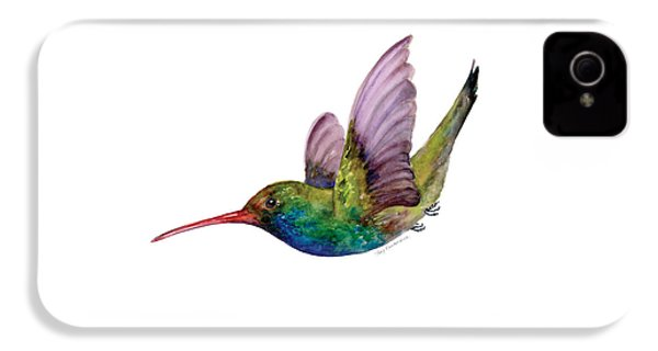 Swooping Broad Billed Hummingbird IPhone 4 Case by Amy Kirkpatrick