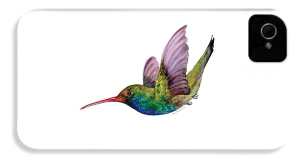 Swooping Broad Billed Hummingbird IPhone 4 / 4s Case by Amy Kirkpatrick