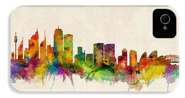 Sydney Skyline IPhone 4 Case by Michael Tompsett