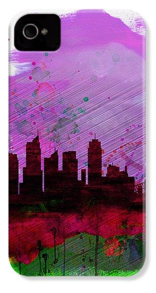Sydney Watercolor Skyline 2 IPhone 4 Case by Naxart Studio