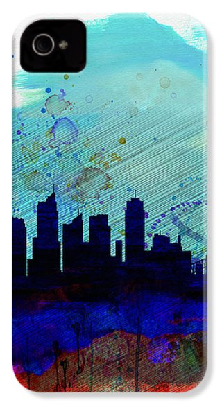 Sydney Watercolor Skyline IPhone 4 Case by Naxart Studio