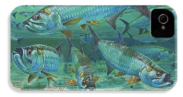 Tarpon Rolling In0025 IPhone 4 / 4s Case by Carey Chen
