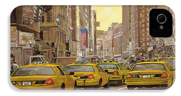 taxi a New York IPhone 4 / 4s Case by Guido Borelli