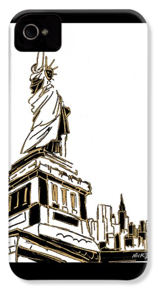 Tenement Liberty IPhone 4 Case by Nicholas Biscardi