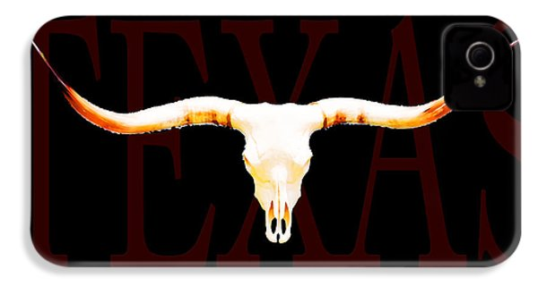 Texas Longhorns By Sharon Cummings IPhone 4 / 4s Case by Sharon Cummings