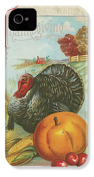 Thanksgiving Postcards I IPhone 4 / 4s Case by Wild Apple Portfolio
