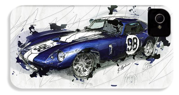 The 1965 Ford Cobra Mustang IPhone 4 Case by Gary Bodnar