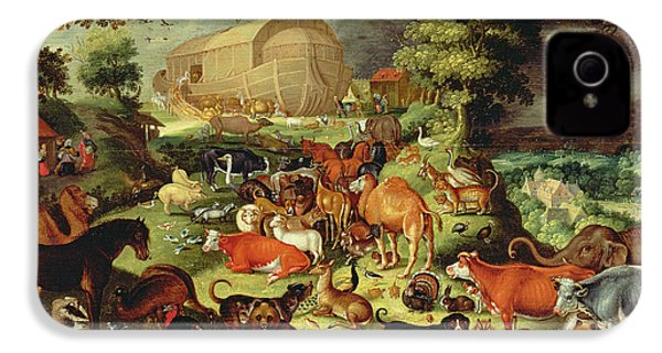 The Animals Entering The Ark IPhone 4 / 4s Case by Jacob II Savery