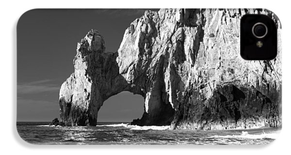 The Arch Cabo San Lucas In Black And White IPhone 4 Case by Sebastian Musial
