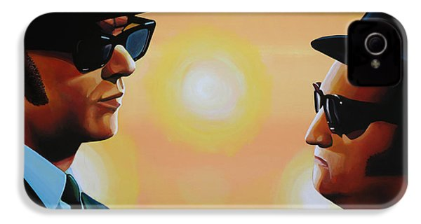 The Blues Brothers IPhone 4 Case by Paul Meijering